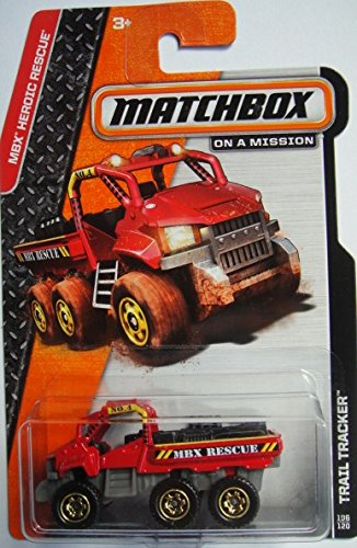 MATCHBOX TRAIL TRACKER MBX HEROIC RESCUE ON A MISSION RED - 1