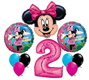 Amazon Com Minnie Mouse 2 2nd Second Happy Birthday