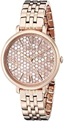 Fossil Women's ES3804 Jacqueline Rose Gold-Tone Stainless Steel Watch
