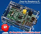 PCSL / Adafruit Clear – Case / Box / Enclosure for Raspberry Pi Computers – Mr Raspberry's Fantastic Case – Manufactured in the UK with permission by Adafruit Industries – Licensed Product – FREE Amazon UK Delivery