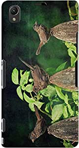 DailyObjects Sparrows In Wood Case For Sony Xperia Z1