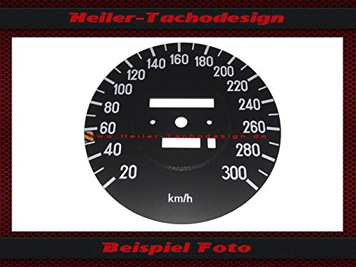 Tachoscheibe Mercedes SL W107 R107 W116 AMG Elektronischer - Tacho 300 kmh