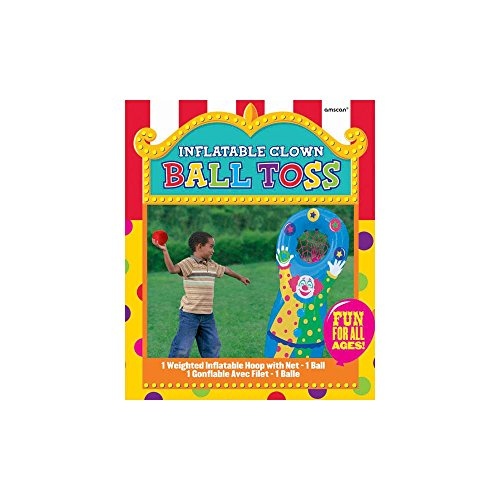 Super Fun Inflatable Ball Toss Birthday Party Game, Multicolored