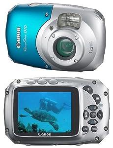 """Canon Power Shot D10 Appareil photo compact numérique 12,1 Mpix Zoom Optique 3x Ecran LCD 2,5"""" Etanche et anti-choc"""