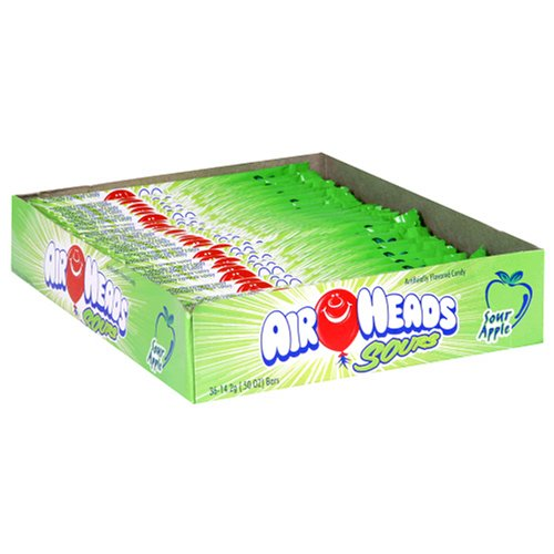 Buy Airheads, Sour Green Apple, 0.55 Ounce Unit (Pack of 4) (Airheads, Health & Personal Care, Products, Food & Snacks, Snacks Cookies & Candy, Candy, Taffy)