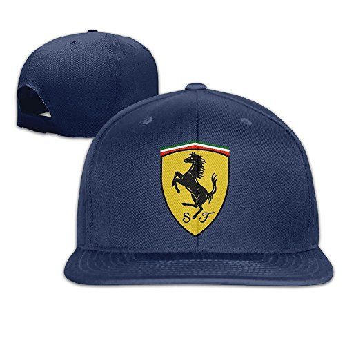 MaNeg Ferrari Team Unisex Fashion Cool Adjustable Snapback Baseball Cap Hat One Size Navy (Louis Vuitton Cap compare prices)
