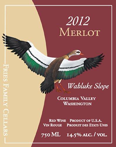 2012 Duck Pond Cellars Merlot Columbia Valley Desert Wind Vineyard 750 Ml