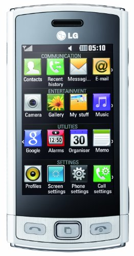 LG GM360 Viewty Plus Smartphone (7,6 cm (3 Zoll) Display, Touchscreen, 5 Megapixel Kamera) pearl white