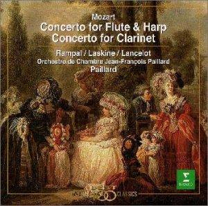 モーツァルト : フルート&ハープ協奏曲&クラリネット協奏曲                                                                                                                                                                                                                  曲目リスト