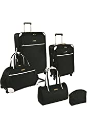 Ninewest Round Trip 5 Piece Luggage Set