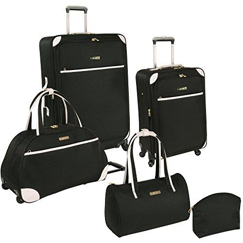 ninewest-luggage-round-trip-5-piece-luggage-set-black-white-one-size