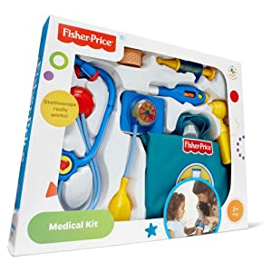 Fisher-Price Boy Doctor Medical Kit [ 3 years and up ] {Be prepared for any medical emergency with the Fisher-Price Medical Kit) by Fisher-Price