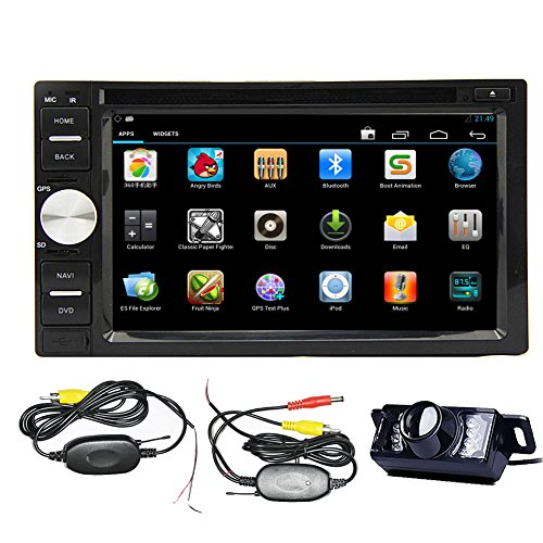 "Android 4.2 Double Din 6.2""- inch Capacitive Touch Screen Car Stereo DVD Player Radio In Dash GPS Navi Navigation + Free Backup Reversing Parking Camera"