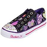 Skechers Girl's Shuffles Flirty Flutters Fashion Sneaker