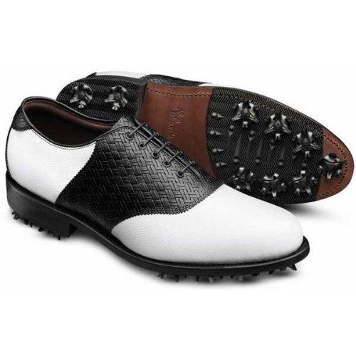 [アレン エドモンズ] Allen Edmonds メンズ REDAN GOLF SHOES ゴルフシューズ ホワイトブラックウェーブ(WHITE BLACK WEAVE PRINT) US12(30cm) [並行輸入品]