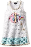 Mud Pie Little Girls' Crochet Fish Cover Up