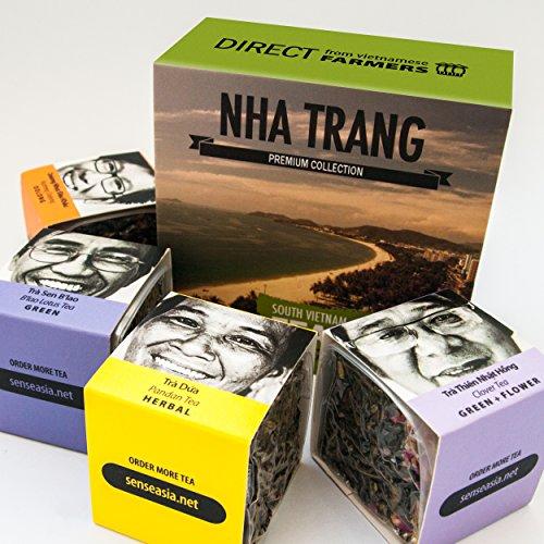 TEA from FARMERS, 4 Loose leaf teas gift set, Nha Trang, South Vietnam