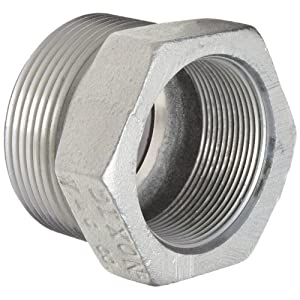 "Iron Hose Fitting, Spud for GJ Boss Ground Joint Seal, 2"" NPT Female"