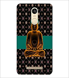 PrintDhaba Lord Mahavir D-2986 Back Case Cover for XIAOMI REDMI NOTE 3 (Multi-Coloured)