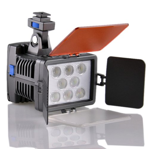 Dste Vl007 Professional 8-Led Video Light Digital Camera Camcorder Photography Lamp Dimmable -- Hot Shoe Seat Width 1.8Cm