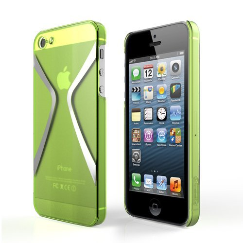 Megix Technology Star Series Hard Cover Case Compatible With Apple Iphone 5/5S - Retail Packaging - Green