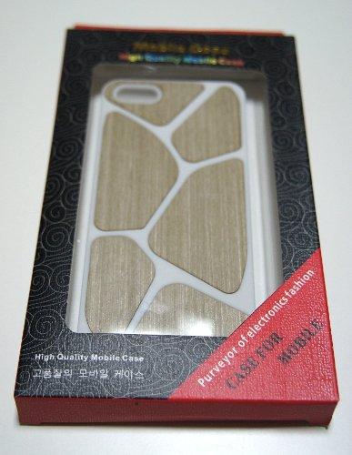 【39s】 iPhone5用高品質Woodシリーズ PCケース ホワイト&ホワイトグレイ
