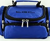 New TGC ® Full Dreamy Blue Deluxe Shoulder Carry Case Bag for the Canon PowerShot SX500 IS Camera & Accessories - Cables - Charger - Batteries - Memory Card - Etc.