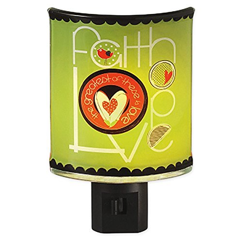 Faith Hope Love Glass Plug-In Night Light