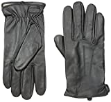 Glove.ly Men's Classic Leather Gloves, Black, Small