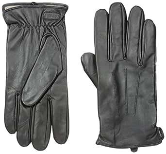 Glove.ly Men's Classic Leather Gloves, Black, Medium