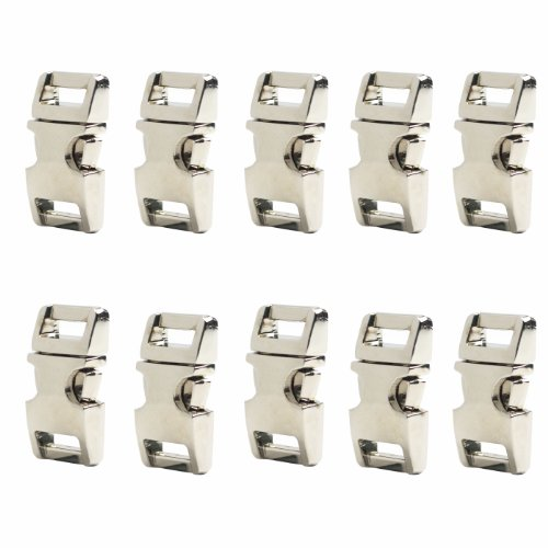 "Bluecell Flat Silver Color Metal Side Release Buckles (5/8"" x10Pcs)"