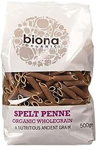Biona Wholemeal Organic Spelt Penne 500 g (Pack of 5)