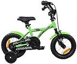 PROMETHEUS-Kinderfahrrad-12-Zoll-Jungen-Kinderrad-in-Farbe-Grn-Schwarz-mit-Sttzrdern-Seitenzugbremse-und-Rcktrittbremse-ab-3-Jahren-12-BMX-Edition-2016