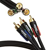 AmazonBasics 6 feet 3RCA Component Video Cable