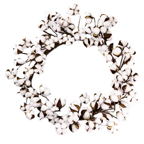 Farmhouse Full Cotton Boll Wreath - 22