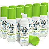 Babyganics Alcohol-Free Foaming Hand Sanitizer, Fragrance Free, On-The-Go, 50 ml (1.69-Ounce), Pump Bottle (Pack of 12)