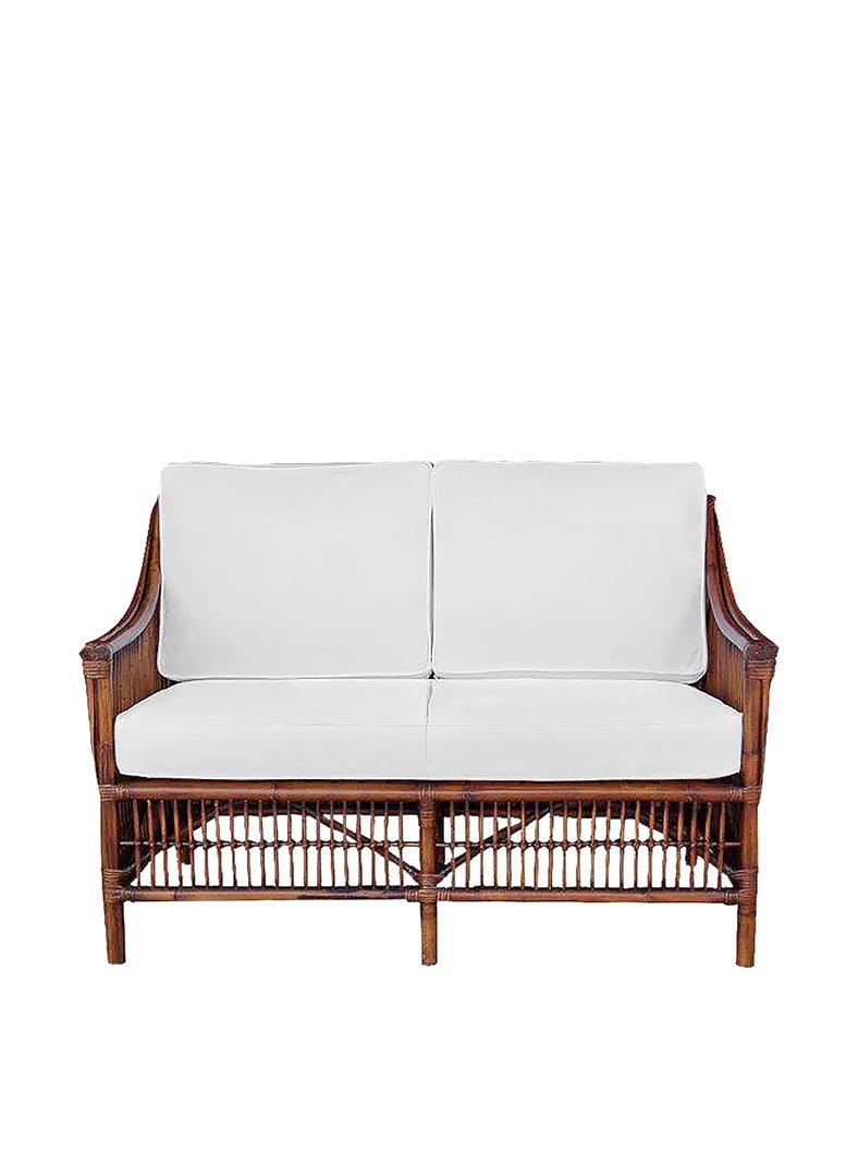 Panama Jack Sunrooms Bora Bora Loveseat with Cushions - Light Beige