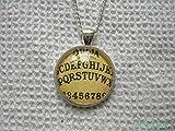 Gothic Ouija Board Altered Art Glass Photo Pendant chain