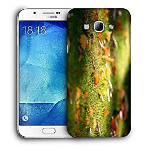 Snoogg Lake Side Forest Printed Protective Phone Back Case Cover For Samsung Galaxy A8