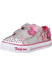 Skechers Kids 10472N Pretty Blossoms Light-Up Sneaker (Toddler/Little Kid)