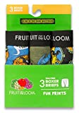 Fruit of the Loom Boys' Fun Prints Boxer Briefs 3-pack