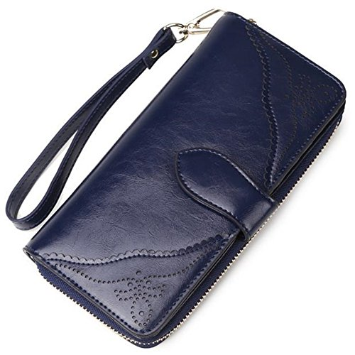 keller-womens-cowhide-leather-rfid-card-holder-long-zipper-lady-purse-clutch-wallet-c3