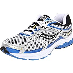 Saucony Men's Progrid Stabil CS 2 Running Shoe,White/Silver/Royal,13 M US