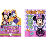 Disney Minnie Mouse Dream Party Kit Including Invitation and TY Notes