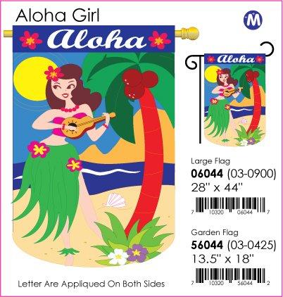Aloha Girl Flag Indoor/Outdoor 28