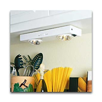 Poker wireless krypton bulb kitchen undercabinet light for Kitchen spotlights amazon
