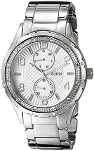 GUESS Women's U0442L1 Analog Display Quartz Silver Watch