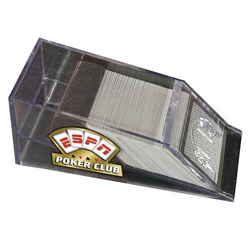 ESPN Poker Club Acrylic 4 Deck Dealer Shoe
