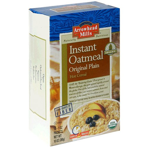 Arrowhead Mills Organic Instant Oatmeal, Original 