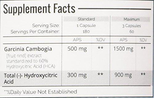 garcinia cambogia extract pure 1000 mg per capsule